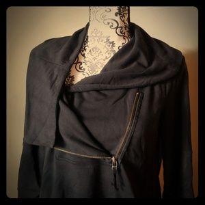Asymmetric Zipper Sweatshirt